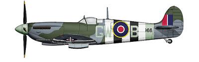 "Spitfire IXc ""MJ966"" piloto Denys Boudard, 340 Sqn. FAF, Junio, 1944, D-Day, 1:48, Hobby Master"