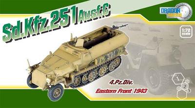 Sskfz 251 Ausf C, 4 Panzer Division, Frente del Este, 1:72, Dragon Armor