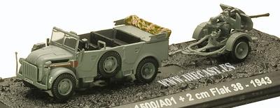 Steyr 1500/A01 + 2 cm Flak 39, 1943, 1:72, Blitz 72