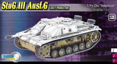 "StuG.III Ausf.G Early Production, 3.Pz.Div. ""Totenkopf"", Ucrania, 1944, 1:72, Dragon Armor"