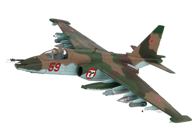 """Su-25 """"Frogfoot"""" Red 59, 378. OShAP, VVS, Afghanistan, 1986, 1:72, Hobby Master"""