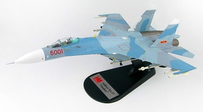 Su-27SK Flanker B Red 6001, 370º Div. Cazas F. A. Vietnamita, Vietnam, 1:72, Hobby Master