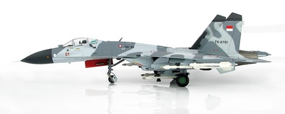Su-27SK Flanker B TS-2701, 11th Squadron, Fuerzas Aéreas de Indonesia, 2003, 1:72, Hobby Master