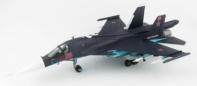 Su-34 Fullback Fighter Bomber Red 26, Russian Air Force, Syria, 2015, 1:72, Hobby Master