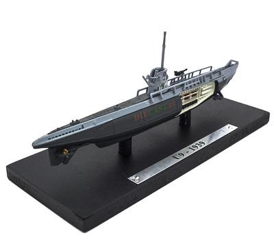 Submarino U-9, Alemania, Segunda Guerra Mundial, 1:350, Editions Atlas