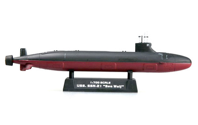 Submarino USS, SSN-21 Seawolf, 1:700, Easy Model