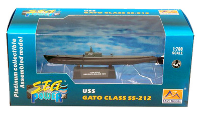 Submarino USS SS-212 GATO, 1941, 1:700, Easy Model