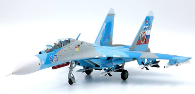 Sukhoi SU-27UB Flanker-C, 54th Kerchenskiy GvIAP, Blue 43, Fuerzas Aéreas Rusas, 1:72, JC Wings