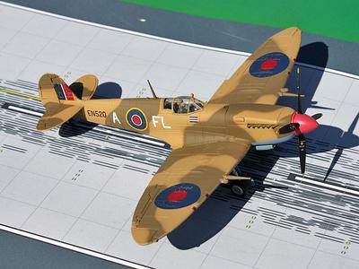 Supermarine MK.IX Spitfire, 'Colin Gray', Abril, 1943, 1:72, Gemini Aces