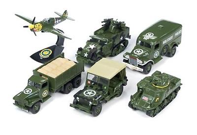Surtido de 6 modelos de la Segunda Guerra Mundial, 1/64, Johnny Lightning