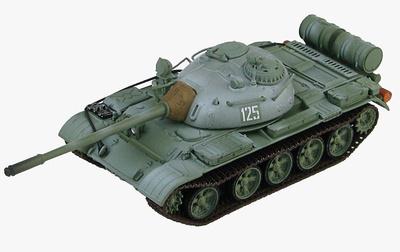 T-55 Tanque Medio Soviético, # 125, maniobras militares de invierno, años 70, 1:72, Hobby Master