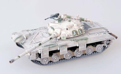 T-64, Ejército Soviético camuflado con pintura al agua, 1972, 1:72, Modelcollect