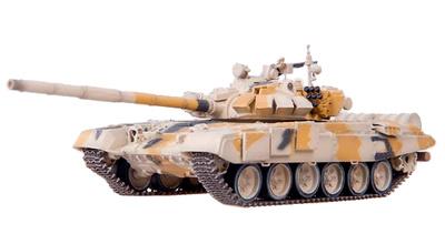 T-72BM, Tanque de Combate Principal, camuflaje desierto, años 2010, 1:72, Modelcollect
