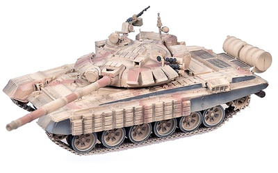 T-72BM con Kontakt-1 (armadura reactiva explosiva), Guerra de Siria, Batalla de Alepo, 2016, 1:72, Modelcollect