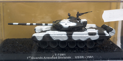 T-72M1, 1º Guards Armored Division, USSR, 1981, 1:72, Altaya