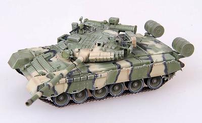 T-80BV con pintura de camuflage y blindaje con bloques reactivos, Ejército Soviético, 1:72, Modelcollect