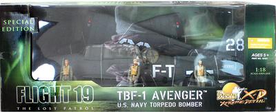 TBF-1 Avenger, Lost Squadron, FlightT 28, 1:18, 21st Century Toys