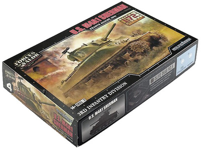 Tanque medio Sherman M4A1, USA, 1:72, Forces of Valor