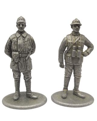 Tanquista y Capitán de Artillería, Francia, 1918, 1:24, Atlas Editions