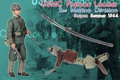 Teniente Andy Carlson, USMC Platoon Leader, 2nd Marine Division, Saipan, 1944, 1:6, Dragon Figures