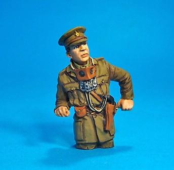 "Teniente C.B. Arnold, jefe de carro de Mark A, Whippet Tank, ""Musical Box"" A/6 344, 1:30, John Jenkins"
