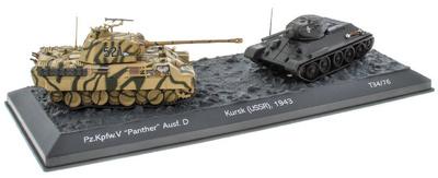 The Battle of Kursk (USSR), 1943 Pz.Kpfw. + 'Panther' Ausf. D vs T34/76, 1/72, Salvat