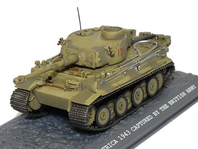 Tiger 1 Nº 131, Capturado por el ejército británico, Norte de Africa, 1943, 1:72, Blitz 72