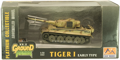 Tiger I, early type, Das Reich, Rusia, 1943, 1:72, Easy Model