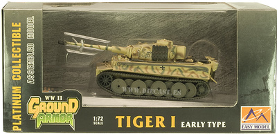 Tiger I, early type, SS LAH, Batalla del Kursk, 1943, 1:72, Easy Model