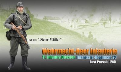 "Tirador ""Dieter Müller"" Wehrmacht-Heer Infantry, Infanterie-Regiment 23, 11. Infanterie-Division, Este Prusia 1941, 1:6, Dragon Figures"