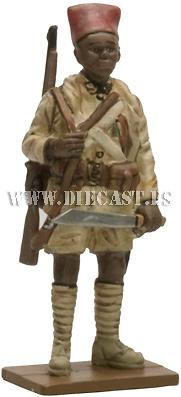 Tirador senegalés, Ejército de la Francia libre, Gabón, 1940, 1:30, Del Prado