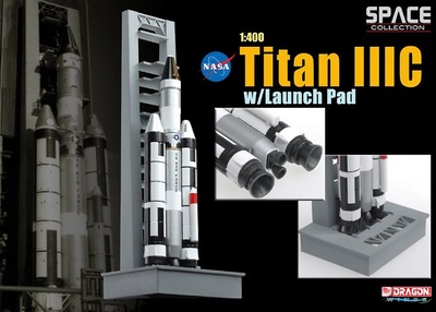 Titan IIIC w/Launch Pad, 1:400, Dragon Space Collection
