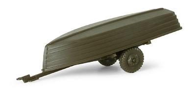 Trailer + 2 boats BW/US, 1:87, Minitanks