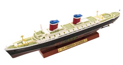 Transatlántico SS United States, Estados Unidos, 1952, 1:1250, Atlas