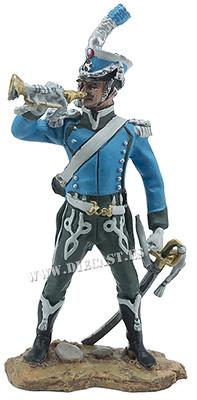 Trompeta del 16º Regimiento de Cazadores a Caballo de la Guardia Imperial, 1809, 1:30, Hobby & Work
