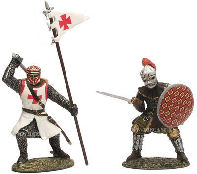 Two Medieval Knights, 1:32, Altaya