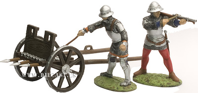 Two soldiers with car, 1:32, Altaya