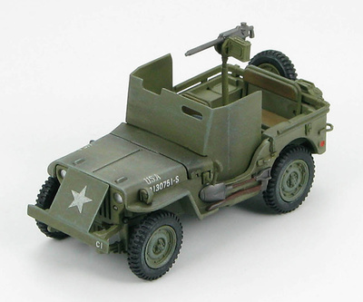 U.S. Jeep Willy M.B. w/armour shields WWII Europe, 1944, 1:48, Hobby Master