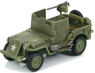 U.S. Jeep Willy M.B. w/armour shields WWII Europe, 1944, 1:72, Hobby Master