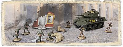U.S. M10 con soldados, Francia, 1944, 1:72, Forces of Valor