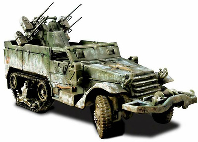 U.S. M16 MULTIPLE GUN, MOTOR CARRIAGE, 1:32,  Forces of Valor