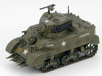 "U.S. M5A1 Stuart Light Tank E Tank Company, 83rd Armored Recon Bttn. 3rd Armored Division ""Victory"", 1:72, Hobby Master"