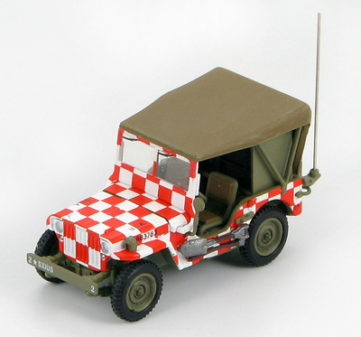 "U.S. Willys Jeep US Army Air Force, Iowa ""Follow Me"", 1:72, Hobby Master"