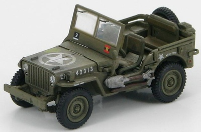 U.S. Willys Radio Jeep HQ Canadian First Army, France, August 1944, 1:72, Hobby Master