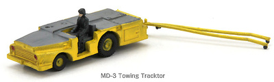 U.S.Navy, MD-3 Towing Tractor Yellow, 1:144, Century Wings