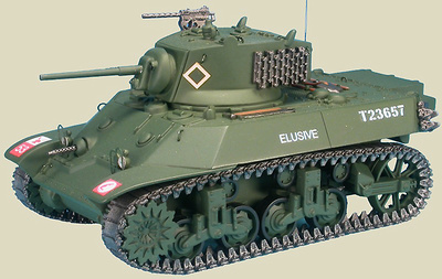 US M3A3 Stuart, 7th Armoured Div., Normandia, Junio, 1944, 1:48, Gasoline