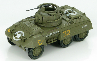 "US M8 Light Armored Car 2nd Armored Division, Operation Cobra 1944 ""Conan"", 1:72, Hobby Master"