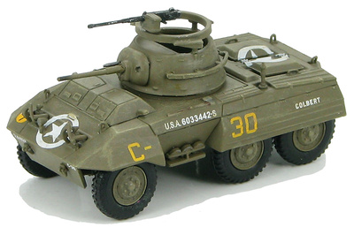 US M8 Light Armored Car 82nd Armored Recon. Battalion, 2nd Armored Div., 1944, 1:72, Hobby Master