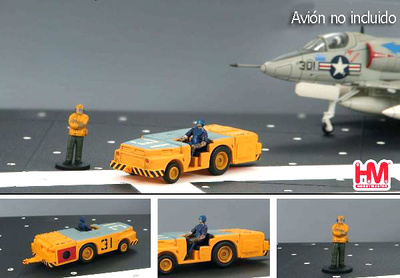 US Navy, Tow Tractor w/2 Figures, 1:72, Hobby Master