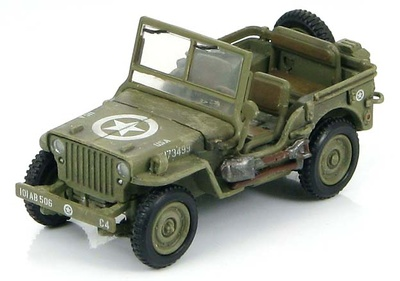 US Willys Jeep 101st Airborne Div., Normandy, 6 June 1944, 1:72, Hobby Master